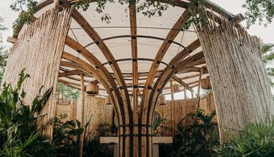 """墨西哥:""""竹之花"""" 卫生间 竹景观"""