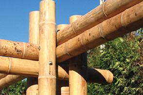 竹梁柱连接形式一梅卯型