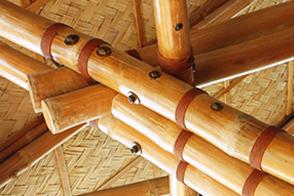 竹梁柱连接形式三-套筒型