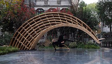 上海虹口区:多伦路 悬竹 竹景观