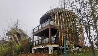 湖北黄石:竹鸟巢 竹装饰