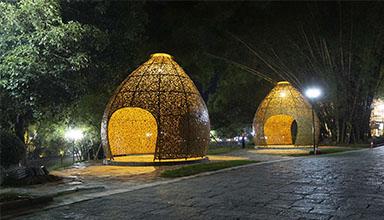 广西桂林市: 印象刘三姐竹编 竹装饰
