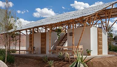 墨西哥:半开放式竹 竹建筑