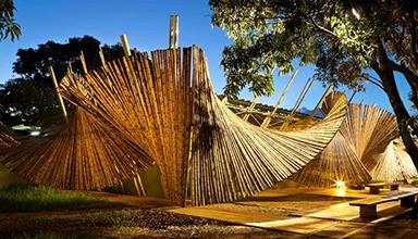 巴西:竹景观装置 竹景观
