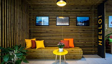 越南:竹办公室 竹装饰