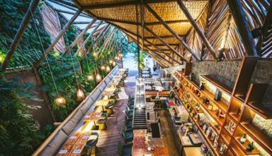 巴西:贾尼克克拉竹餐厅 竹景观