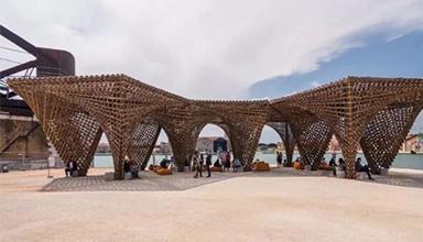 意大利:威尼斯竹钟乳石展亭 竹建筑