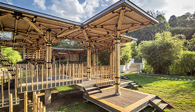 马来西亚:竹廊架 竹景观