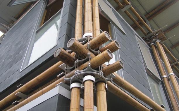 圆竹结构建筑的连接验算