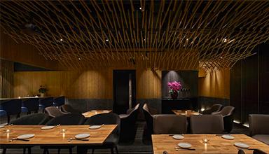 日本:餐馆竹制天篷 竹装饰