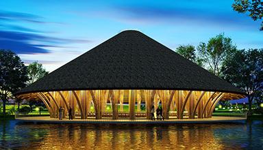 墨西哥:山顶竹餐厅 竹建筑