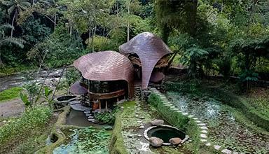 马来西亚:河湾 竹屋 竹建筑