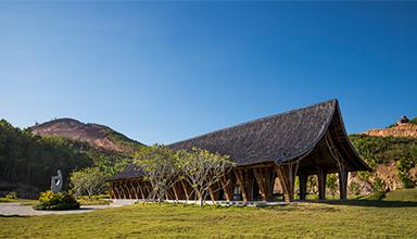 越南:恒安尹渭参观中心 竹建筑