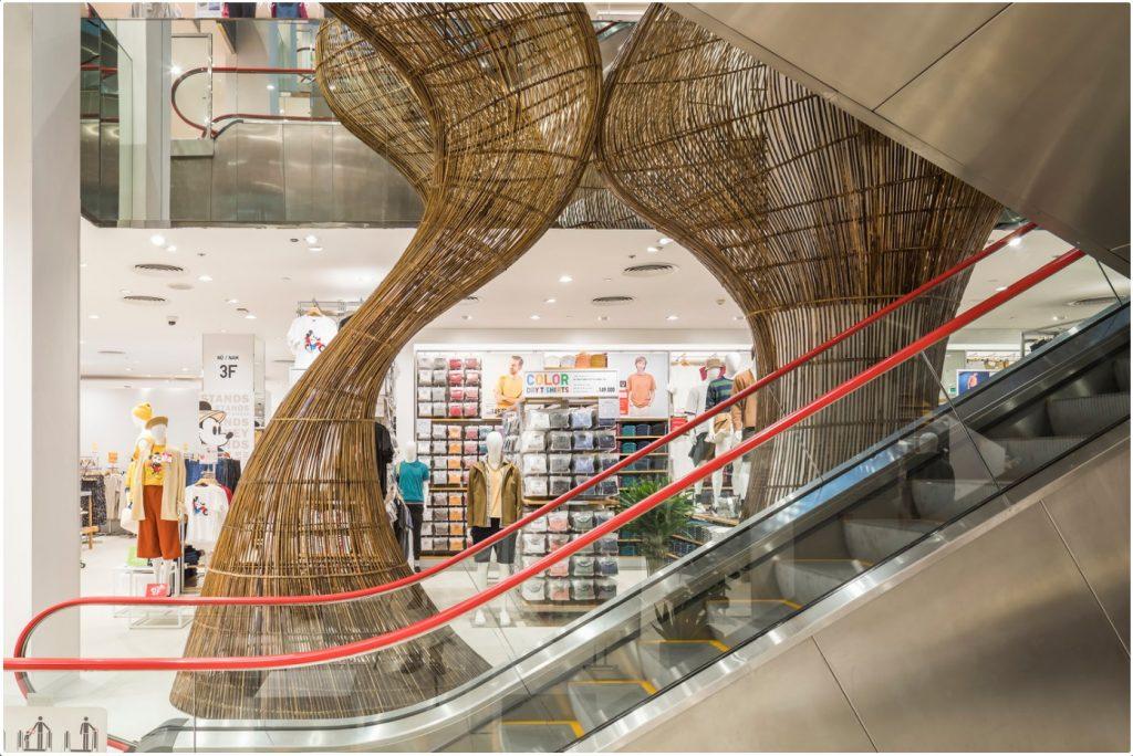 越南:优衣库竹构 竹编 竹装饰
