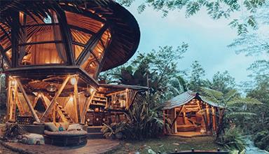 印尼:蜂巢 竹屋 竹建筑
