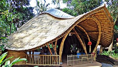 印尼:绿色学校 竹屋 竹建筑