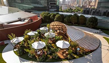 热烈庆祝上海恒隆广场竹棚项目盛大开业