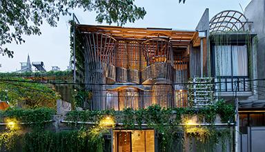 印尼:Guha创意园区 竹屋 竹装饰