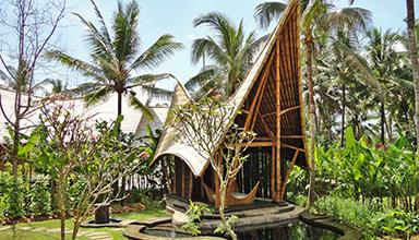 印尼:巴厘岛 米南宾馆 竹建筑