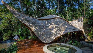 印尼:巴厘岛 水疗中心 竹建筑