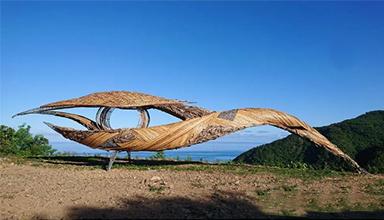 东南亚:竹装置瞭望之眼 竹编 竹景观