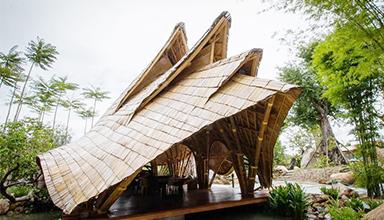 泰国春武里: 竹食堂 竹建筑