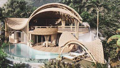 美国:古林海滩 竹别墅 竹建筑
