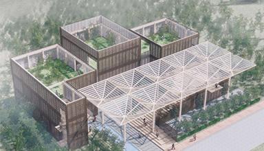开创国内装配式竹结构建筑的先河-竹技园