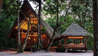 马来西亚:度假村中心 特色竹屋 竹建筑