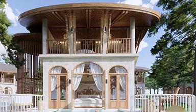 泰国:高端竹别墅 竹建筑