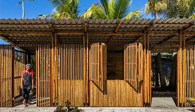 巴西 坎布里:竹建筑社区中心 特色竹建筑