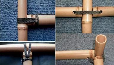 原竹建筑结构性节点的构造方式