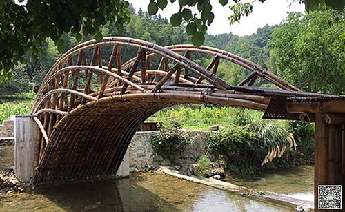 盘点国内外知名特色竹桥建筑工程案例分享  惊叹的竹景观建筑
